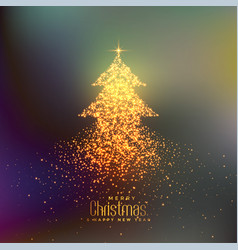 abstract christmas tree made with particles vector image