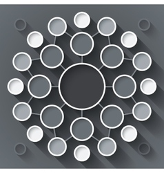 Abstract infographics symmetrical white and gray vector image
