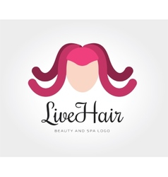 abstract octopus hairstyle logo template vector image