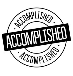 accomplished stamp on white vector image