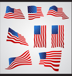 American flag with gradient isolated on white vector