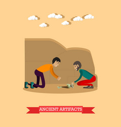 Ancient artifacts concept vector