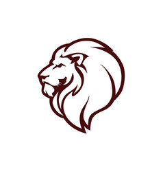 Angry lion head logo icon sign outline design vector