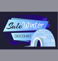 arctic poster winter sale and discount vector image
