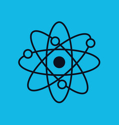 atom molecule isolated icon vector image vector image