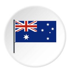 australia icon circle vector image