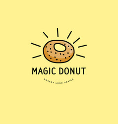 Bakery and donut logo vector