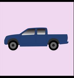 Blue truck icon vector