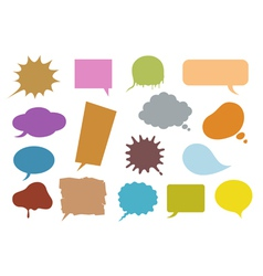 bubble speech vector image