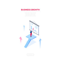 business growth - modern isometric web vector image