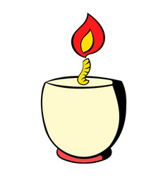candle in a candlestick icon icon cartoon vector image