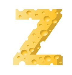 cheese letter Z vector image