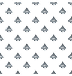 christmas tree toy pattern seamless vector image