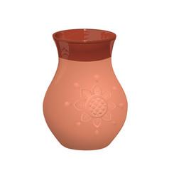 Clay jug jug for milk vector
