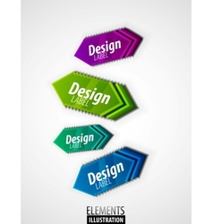 color arrow labels vector image