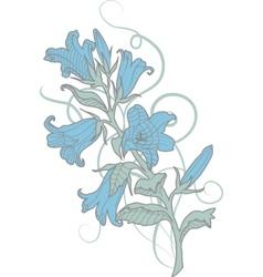 cornflower pastel illustration vector image