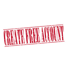 Create free account vector