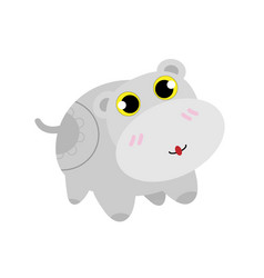 Cute hippopotamus vector