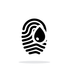 Damage fingerprint icon on white background vector image