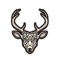 deer head icon isolated on white background vector image