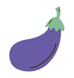 Delicious fresh eggplant organic vegetable vector