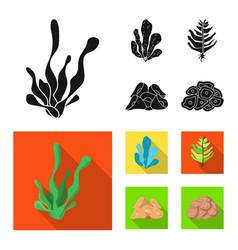 Design biodiversity and nature logo vector