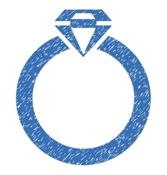 Diamond Ring Grainy Texture Icon vector