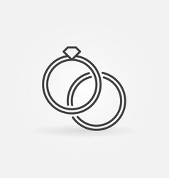 engagement rings icon - wedding rings vector image
