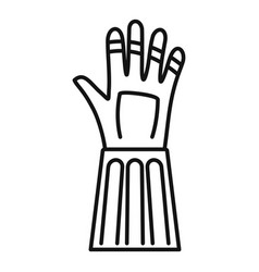 Fencing gloves icon outline style vector