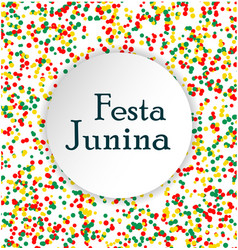 Festa junina brasil festival pattern made of vector