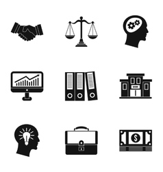 Firm icons set simple style vector