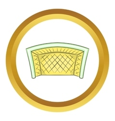 Football goal icon vector