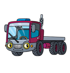 Funny small truck with eyes vector