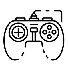 Game joystick icon outline style vector