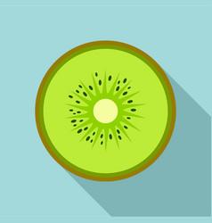 half of kiwi icon flat style vector image