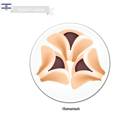 Hamantash or Israeli Cookies with Poppy Seed vector image