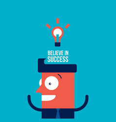 happy businessman with bright idea business vector image