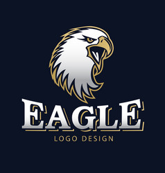 Hawk eagle head usa americs logo mascot 13 vector