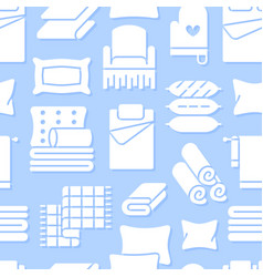 Home textiles seamless pattern with flat glyph vector