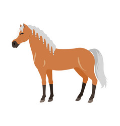 Horse in flat design vector