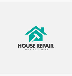 house repair logo design template isolated vector image