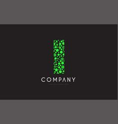 i letter bubble green logo icon design vector image