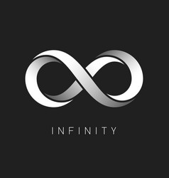 infinity symbol limitless sign logo design vector image