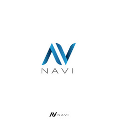 Initial letter av or n logo template air arrow vector