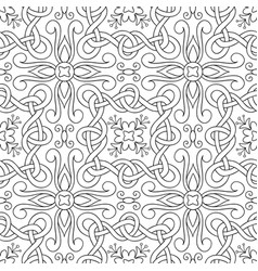 Interwoven lines seamless pattern vector