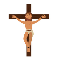 Jesus christ crucifixion cross sacred vector