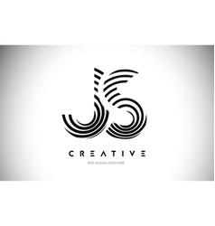Js lines warp logo design letter icon made vector