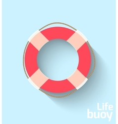Life buoy in flat style vector