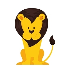 Lion animal cartoon vector