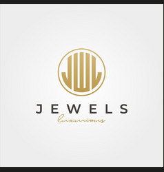 luxurious jewel initial logotype symbol design j vector image